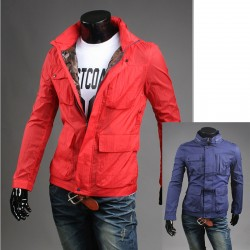 jacheta windbreaker 4 buzunar stil de gâscă pentru bărbați