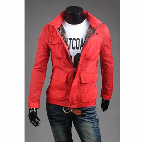 4 pocket goose style men's windbreaker jacket