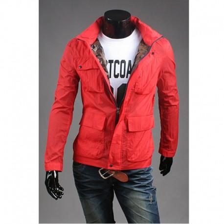 4 zseb liba stílusú férfi széldzseki kabát