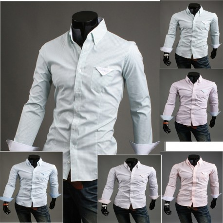micro chèque mouchoir chemise de
