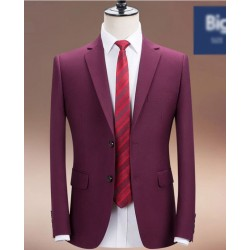 men's suit purple 2button slim fit