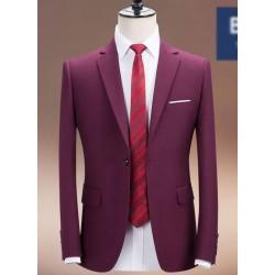men's suit purple 1button slim fit