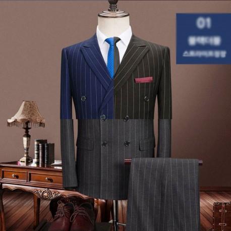 men's suit double breast 120su stripe