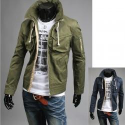 giacca militare corta ponticello maschile
