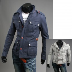 мужская куртка серый военный 4 бумажник карман