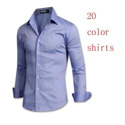 bărbați camasi cu maneca mijlocul denim unwash