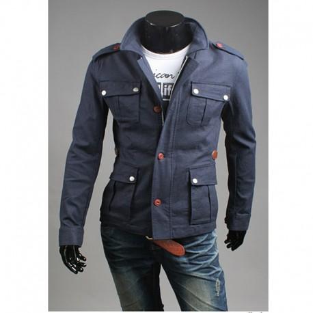 чоловіча куртка сірий військовий 4 гаманець кишеню