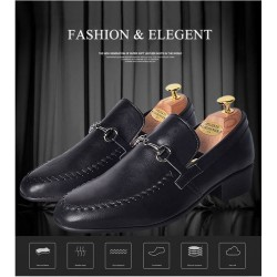 mens dress loafer shoes metal point
