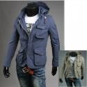 giacca militare con cappuccio tasca 4 raccoglitore degli uomini