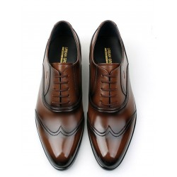 mens dress wedding shoes wing tip