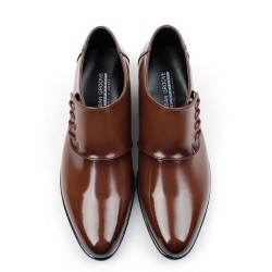 mens side string monk strap shoes