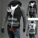 mäns hoodie zip upp dubbel linje höger