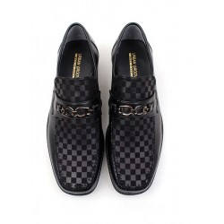 mens formal loafers shoes chess pattern