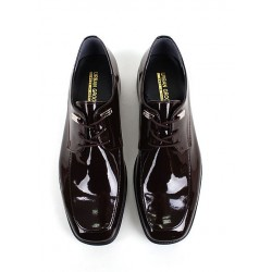mens oxford shoes lace up enamel