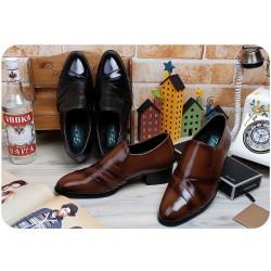 mens monk loafer shoes folded toe