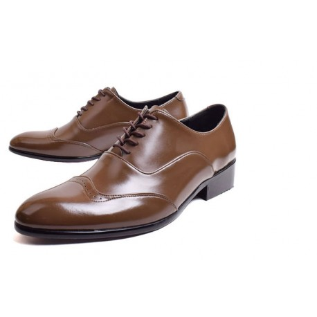 mens round wingtip party shoes