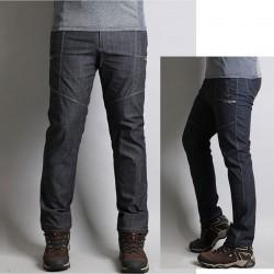 men's hiking pants side solid cut