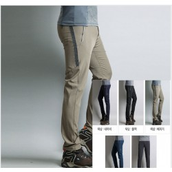 men's hiking pants spring charcoal side point