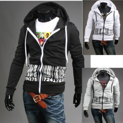 men's hoodie zip up barcode