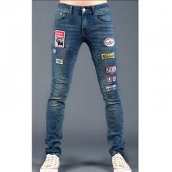 men's skinny jeans funk patch