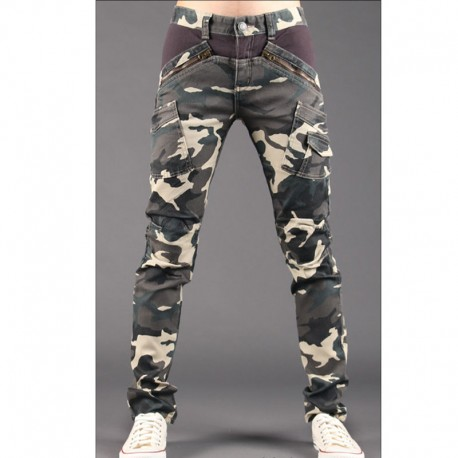 men's skinny jeans military camouflage