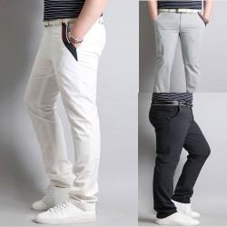 men's golf pants left triple line