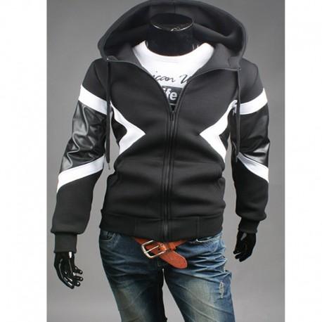 Les sweat à capuche pour hommes zip jusqu'à neil barrett neoplan style