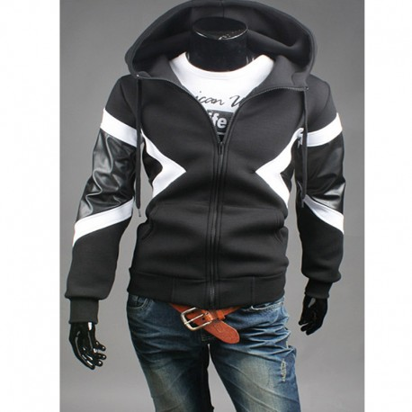 men's hoodie zip up neil barrett style neoplan