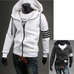 mäns hoodie zip upp thom brun stil neoplan