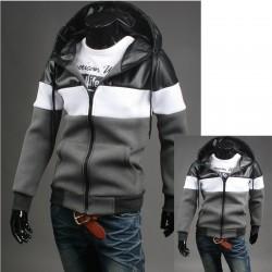 erkek hoodie üçlü katı NEOPLAN fermuarını