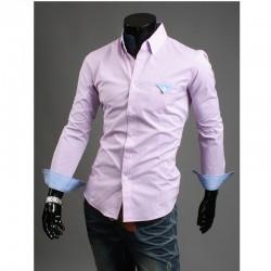 mænds lyserøde lommetørklæde skjorter