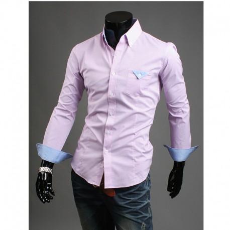 pánské košile růžové kapesník