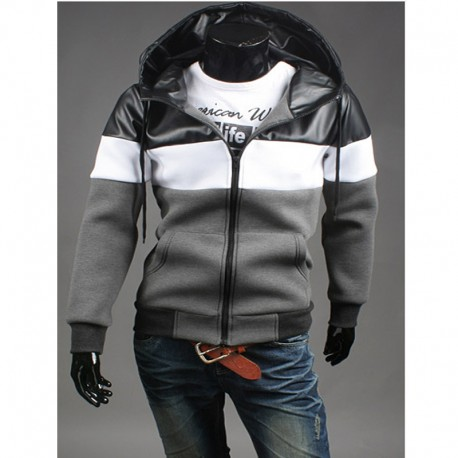 Mannen trui met capuchon zip-up triple solide neoplan