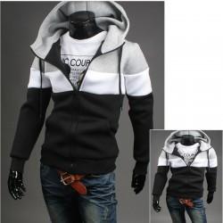 män hoodie med dragkedja tre sätt line neoplan