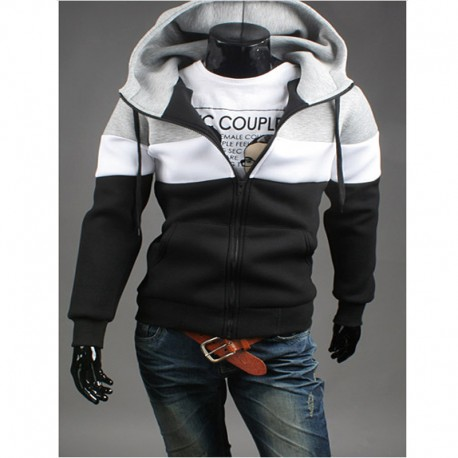 men's hoodie with zip pockets 3 way line neoplan