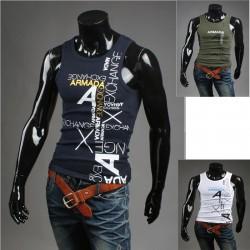 Koszulka męska bez rękawów parodia armani koszulki