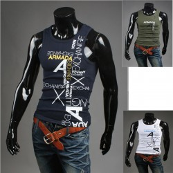 men's tank top parody armani shirts