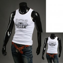 мъжки резервоар топ тигрови ризи