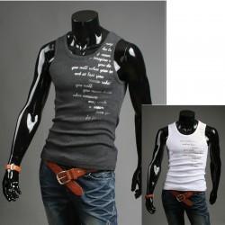 Mannen muscle-Engels gedicht shirts