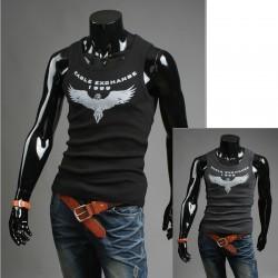 Koszulka męska bez rękawów eagle walutowe koszule