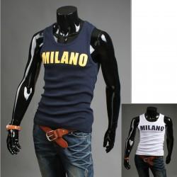 Koszulka męska bez rękawów koszulki Milano