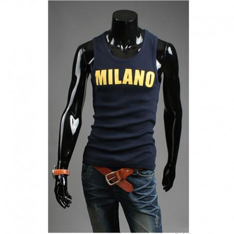 мужские рубашки верхней части бака Milano