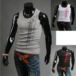 Herre shirt uden ærmer udstyr skjorter