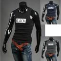 Koszulka męska bez rękawów czarne koszule