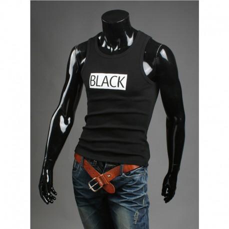 débardeur chemises noires des hommes