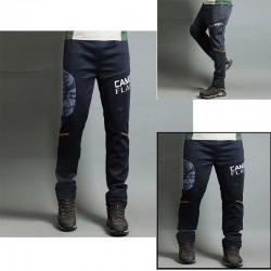 męskie spodnie na piesze wędrówki gumka kamuflażu