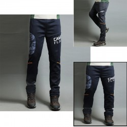 pánské turistické kalhoty kamufláž gumička