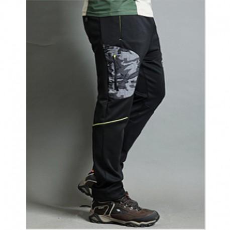 pánske turistické nohavice kamufláž gumička