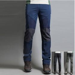 мъжки туристически панталони панталони твърдо коляното кръпка