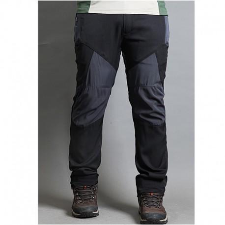 erkek yürüyüş pantolon katı diz yama pantolon